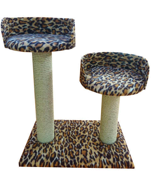 Twin Plush Circular Cat Scratching Post