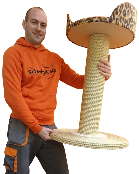 Giant Cat Scratching Post with Bed