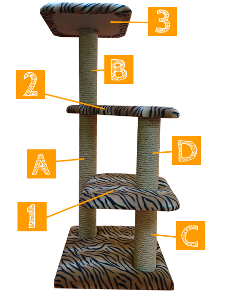 Luxury Large Cat Tree Furniture with Platforms