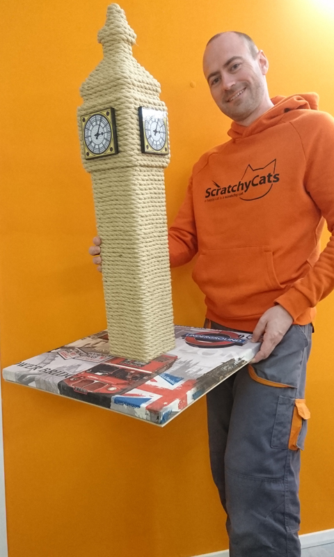 Big Ben Style Cat Scratching Post | ScratchyCats