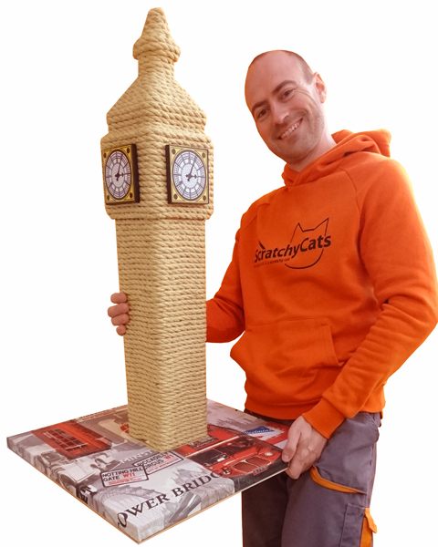 The Big Ben Cat Scratching Post