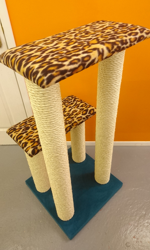 Large Luxury Twin Step Cat Climbing Frame | ScratchyCats