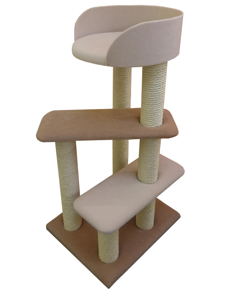Luxury Cat Tree with Large Tub Bed