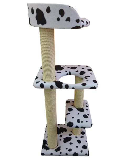 Compact 4ft Tall Cat Tree with Tub Bed