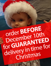Order before December 10th for delivery in time for Christmas