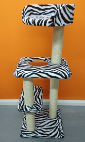 zebra print cat tree
