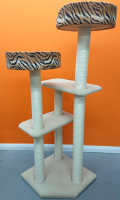 large 6ft cat tree finished in beige