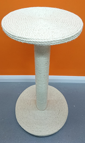 80cm tall cat scratching post with sisal platform