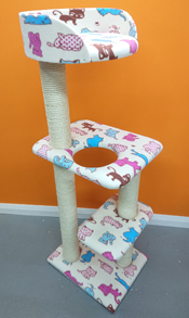 compact 4ft cat tree