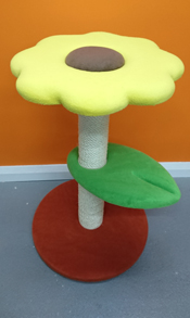 sunflower cat scratching post