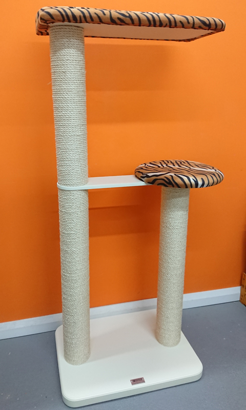 Bespoke Cat Tree Painted Satin Beige | ScratchyCats