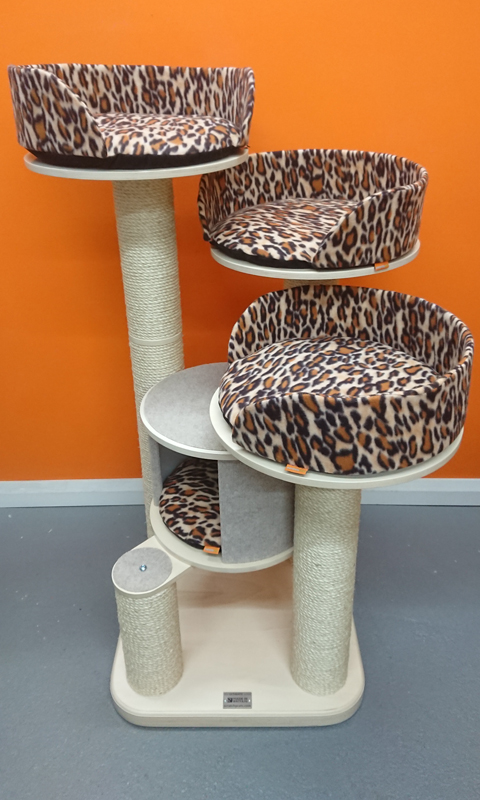Ultimate Series Cat Tree with Leopard Print Beds | ScratchyCats