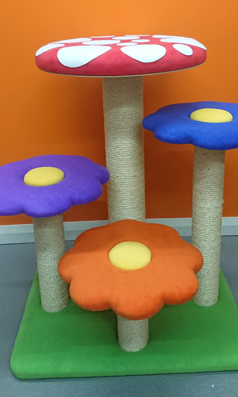 Bespoke Flower and Toadstool Cat Tree | ScratchyCats