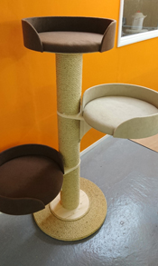Beige Cat Scratching Post | ScratchyCats