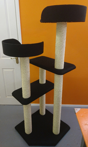 Black Cat Scratching Post | ScratchyCats