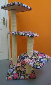 Flower Print Cat Scratching Post | ScratchyCats