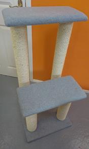Light Grey Cat Scratching Post | ScratchyCats