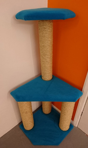 Turquoise Cat Scratching Post | ScratchyCats