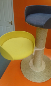 Yellow Cat Scratching Post | ScratchyCats